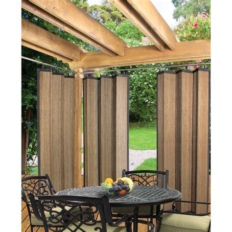 Outdoor Patio Curtains Walmart by Versailles Home Fashions Indoor Outdoor Bamboo Ring Top