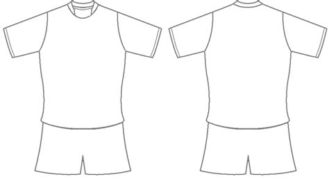 football shirt template clipart