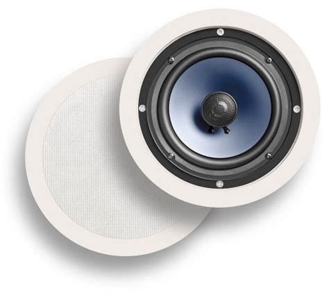 polk audio rc80i 2 way in ceiling speakers pair white