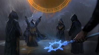 Terraria Cultist Fantasy Magic Rain Lightning Desktop