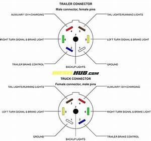 Trailer Receptacle Connector Wiring Diagram 7 Way  U2013 Bishieholic