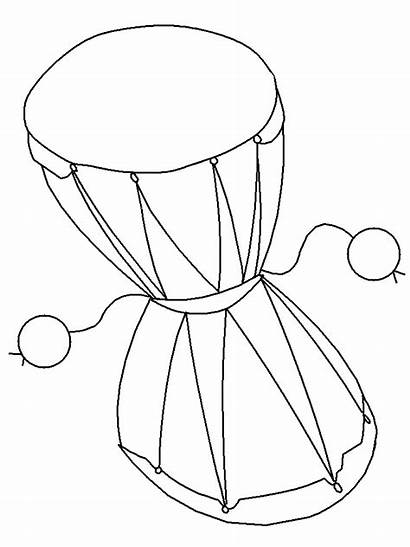 Damaru Coloring Pages India Countries Printable Paint