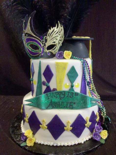 mardi gras cakes decoration ideas  birthday cakes