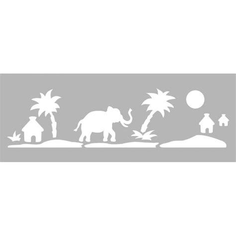 pochoir mural a imprimer pochoir frise safari 15x40cm tout 224 creer