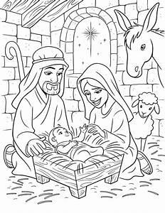 O Nascimento de Jesus - Desenhos para Colorir