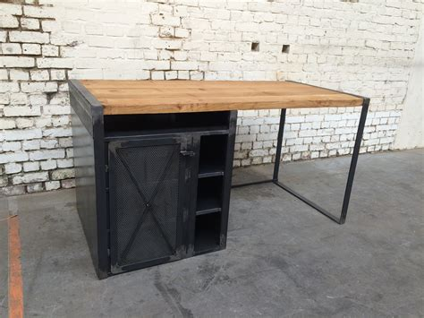 bureau metal et bois bureau rb 39 bu002 giani desmet meubles indus bois métal
