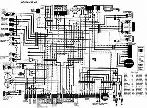 Electrical Wiring Diagram Of Honda Cb750f  60489