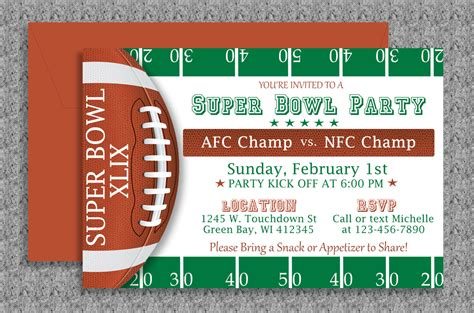 superbowl invitations super bowl invitation editable template by mydiydesigns on etsy