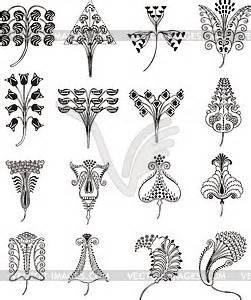 Jugendstil Florale Ornamente : einfache florale ornamente im jugendstil vektorisierte ~ Orissabook.com Haus und Dekorationen
