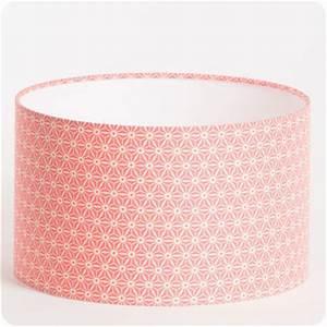 Abat Jour Rose : abat jour design pour lampe lampadaire ou suspension en tissu motif japonais rose hoshi ~ Teatrodelosmanantiales.com Idées de Décoration