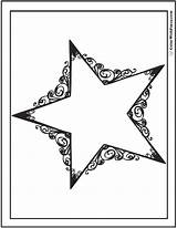 Coloring Stars Printable Dallas Pdf Template Scrollwork Cowboy Cowboys Reach Colorwithfuzzy Results sketch template