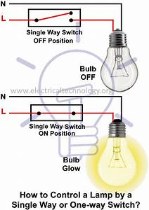 How To Control A Light Bulb By A Single Way Or One