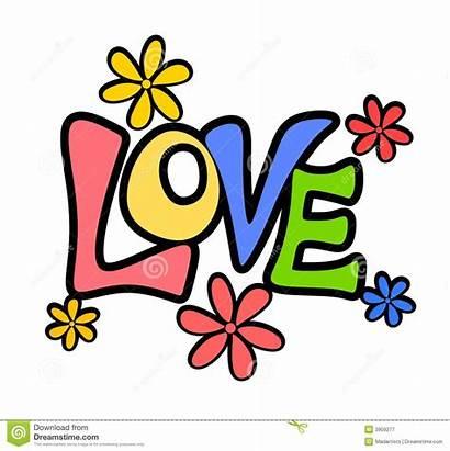 Word Clipart Valentine Banner Flowers Retro Amor