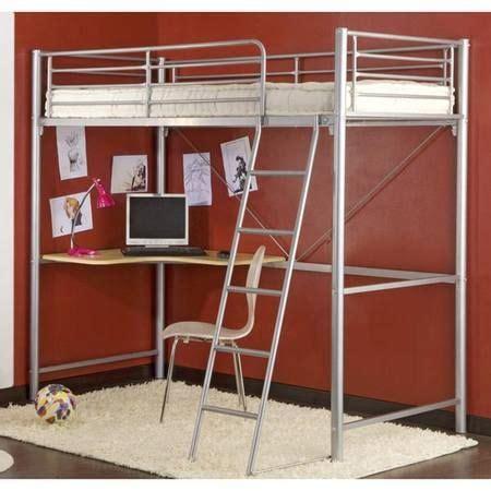 chambre etudiant lit mezzanine avec bureau en dessous idéal pour chambre