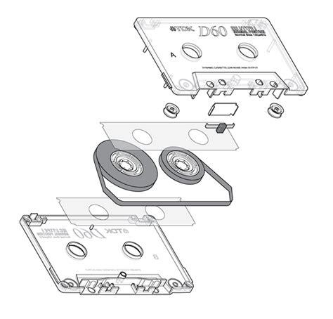 Diagram Of Audio Cassette by Cassette Illustration On Behance