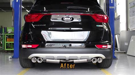 kia motor    sportage  exhaust system youtube