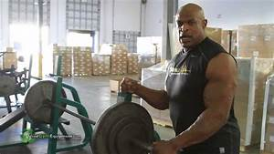 Ronnie Coleman Lifting On Usedgymequipment Com Gym Equipment In His Private Gym