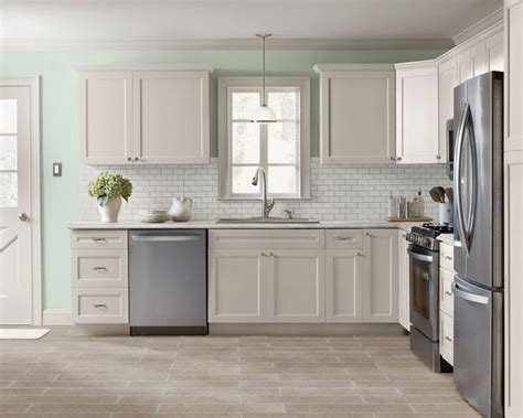 white wood grain kitchen cabinets kitchen facelift refacing cabinets subway tile 1883