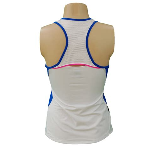 lucky  love womens kaleidoscope racerback tank whitesapphire blue ct   tennis shop