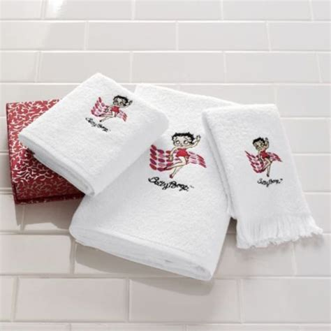 betty boop bath towel set betty boop towel set 3 pc dots style