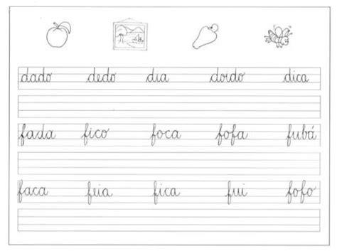 atividades de caligrafia letra cursiva para escrita bela estilos