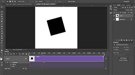 beginning timeline animation  photoshop