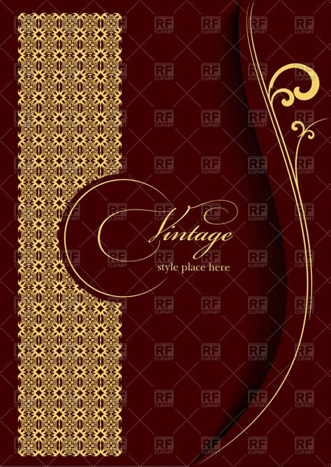 elegant gold ornament  burgundy background template