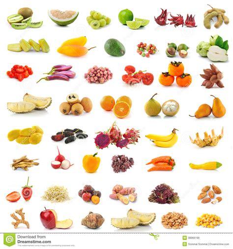 Fruits Et Légumes Sur Le Fond Blanc Photo stock Image
