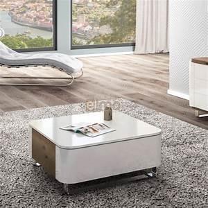 Table De Salon Moderne : table basse moderne bois et laque pieds m tal 1 tiroir ~ Preciouscoupons.com Idées de Décoration