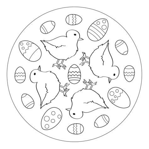easter eggs  chicks mandala   pre  kindergarten