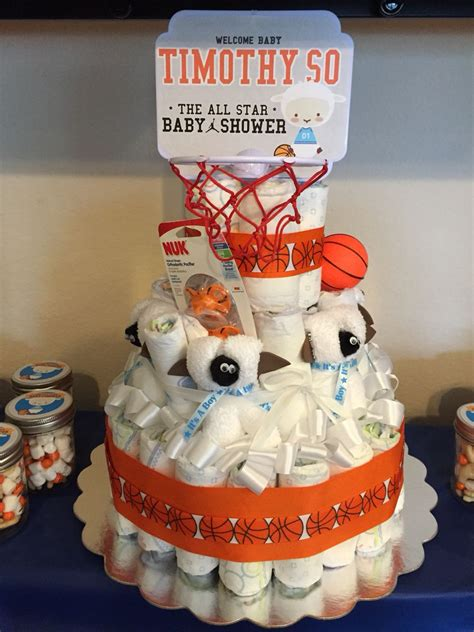 basketball lamb baby shower decorations party kit