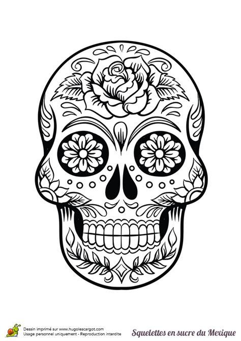 squelette sucre roses fleurs coloriage t 234 te de mort dessin tete de mort et t 234 te