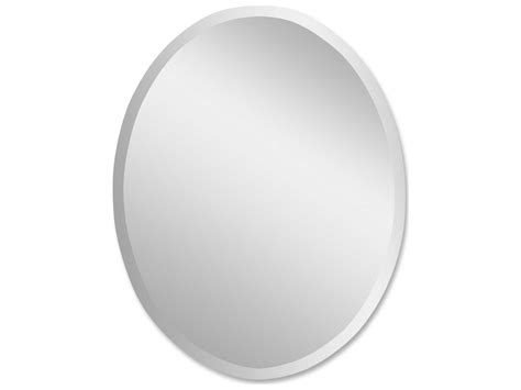 Uttermost Frameless 22 X 28 Vanity Oval Wall Mirror