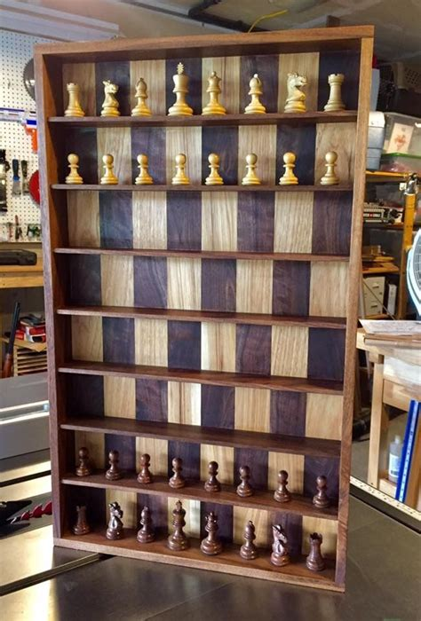 vertical chess board diy chess set wooden chess board