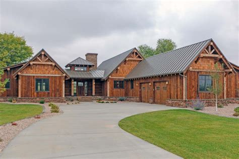 rustic mountain ranch house plan ck architectural