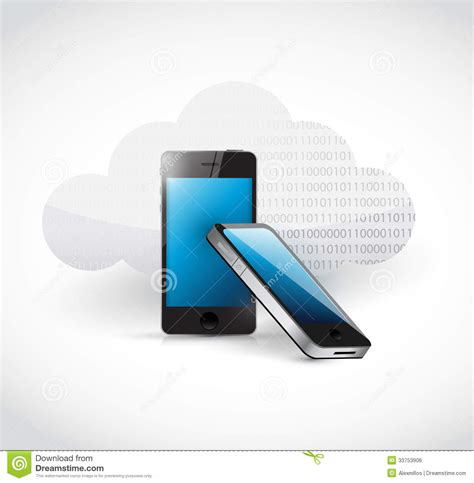 access free phone cloud computing mobile phone access royalty free stock