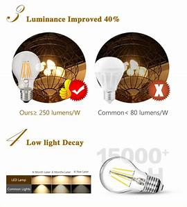 E14 Zu E27 : e14 e27 led filament gl hbirne kerzen kugel birne faden lampe 4w 8w 12w kaltwei ebay ~ Markanthonyermac.com Haus und Dekorationen