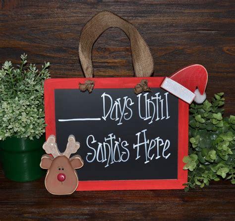 christmas countdown chalkboard christmas decor days until