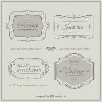 Vintage Vectors Photos and PSD files Vintage frames