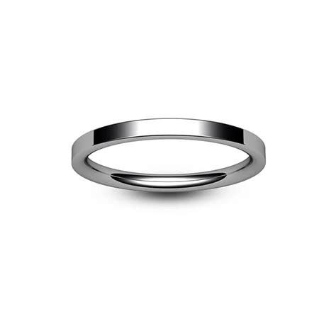palladium modern flat court wedding ring bijoux jewels