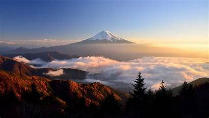 Fuji Mount Landscape Clouds Sky Nature Wallpapers