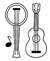 Guitar Banjo Coloring Pages Printable Play Categories sketch template