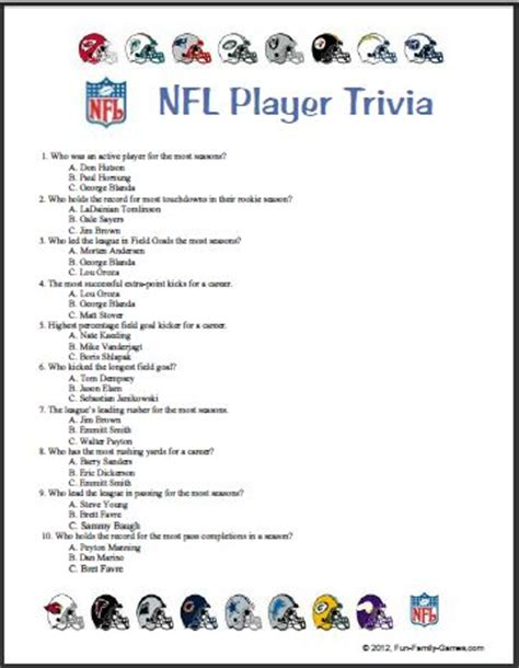 nfl mega fan quiz 2013 sports trivia questions html autos post