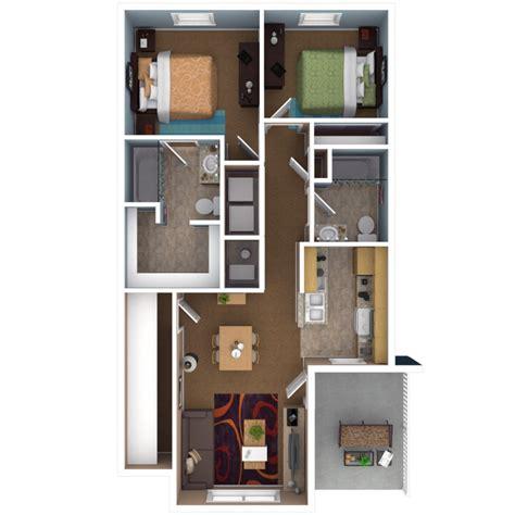 2 Bedroom 2 Bathroom Apartments by Apartments In Indianapolis Floor Plans