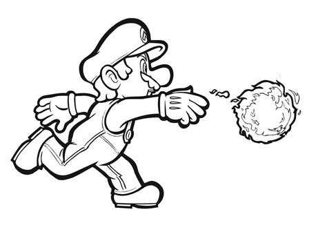 Super Mario Bros Coloring Pages - Costumepartyrun