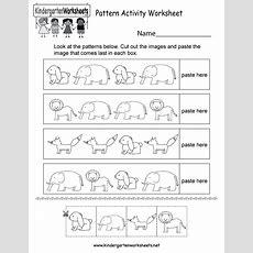 Pattern Activity Worksheet  Free Kindergarten Worksheet For Kids