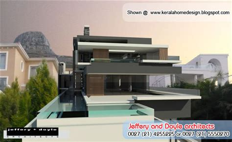 super luxury modern house design  jeffery  doyle architects kerala home design  floor