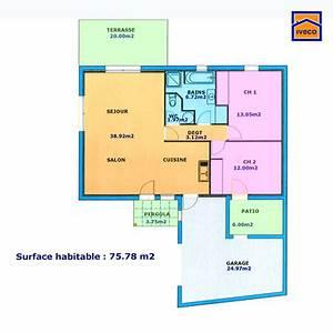 Plan de maison individuelle plain pied for Ordinary plan de maisons gratuit 13 plan appartement 60 metre carre