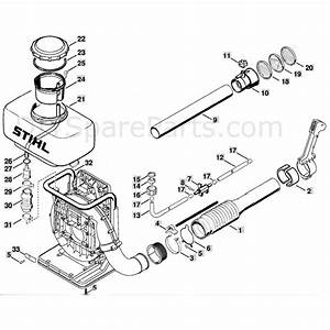 28 Stihl Backpack Blower Parts Diagram