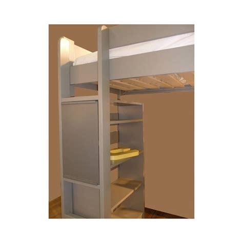 bureau en mezzanine lit mezzanine enfant avec bureau intégré en bois